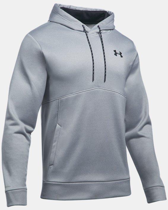 Men's UA Storm Armour Fleece® Hoodie, Gray, pdpMainDesktop image number 3