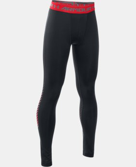 New Arrival  Boys' UA HeatGear® Armour Up Legging  3 Colors $44.99