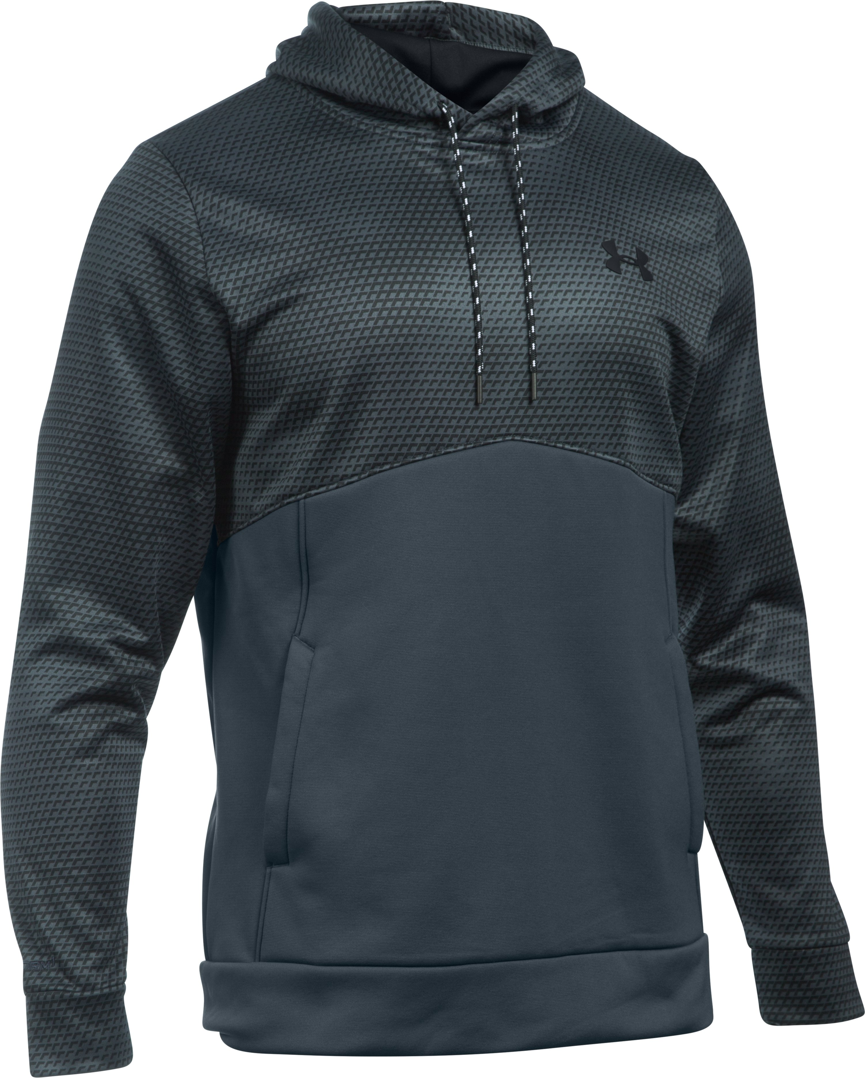 Men's UA Storm Armour Fleece® Patterned Hoodie, STEALTH GRAY, undefined