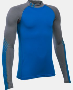 Boys' UA ColdGear® Armour Up Mock  2 Colors $44.99