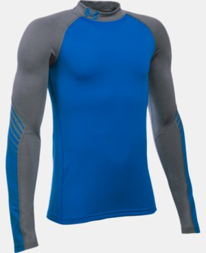 Boys' UA ColdGear® Armour Up Mock LIMITED TIME: FREE SHIPPING 3 Colors $44.99