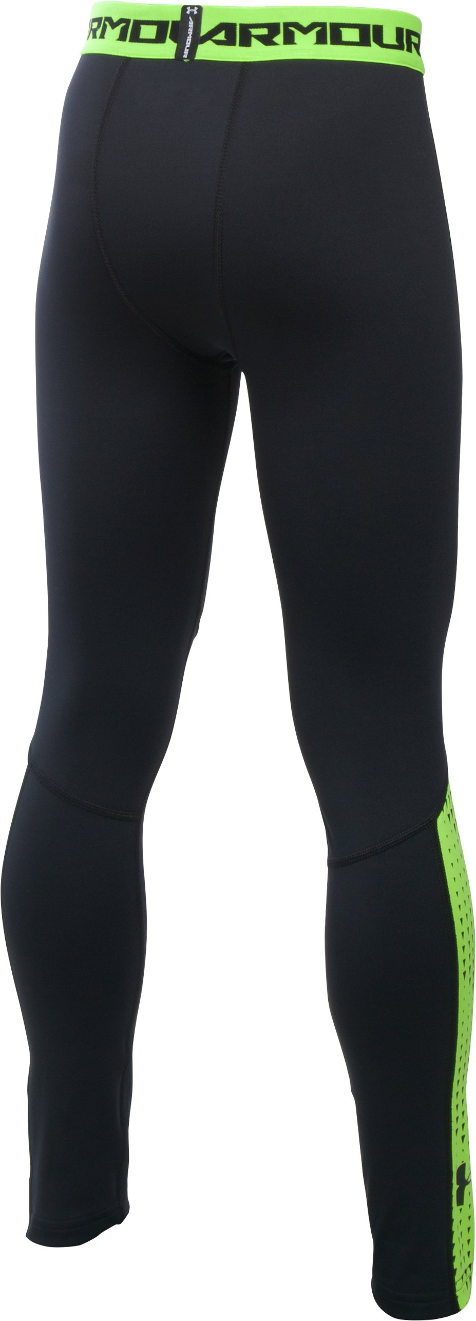 Boys' UA ColdGear® Armour Up Legging, Black , undefined