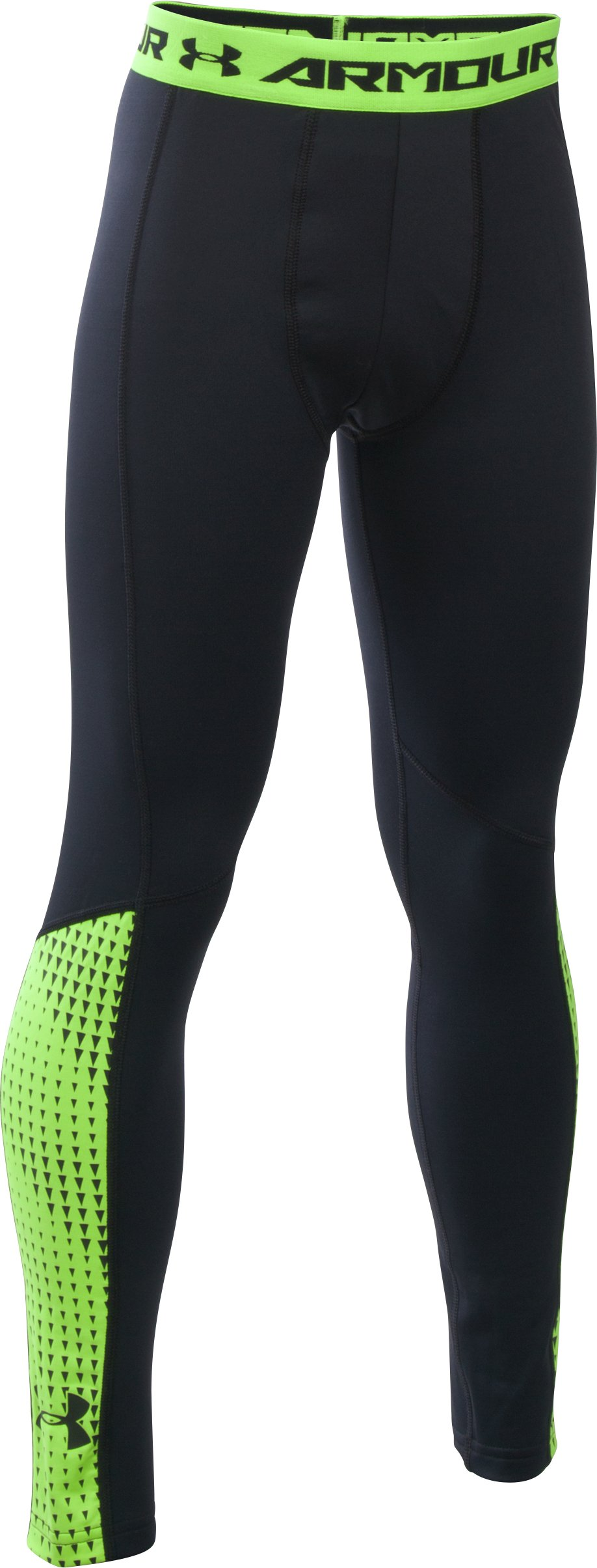 Boys' UA ColdGear® Armour Up Legging, Black , zoomed image