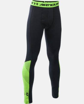 Boys' UA ColdGear® Armour Up Legging LIMITED TIME OFFER + FREE U.S. SHIPPING 2 Colors $33.74