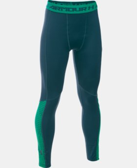 Boys' UA ColdGear® Armour Up Legging LIMITED TIME OFFER + FREE U.S. SHIPPING 1 Color $33.74