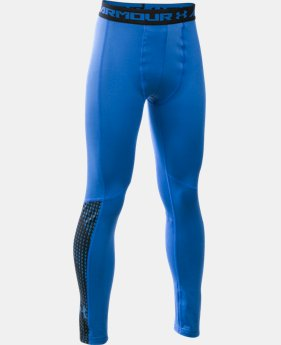 Boys' UA ColdGear® Armour Up Legging  2 Colors $44.99