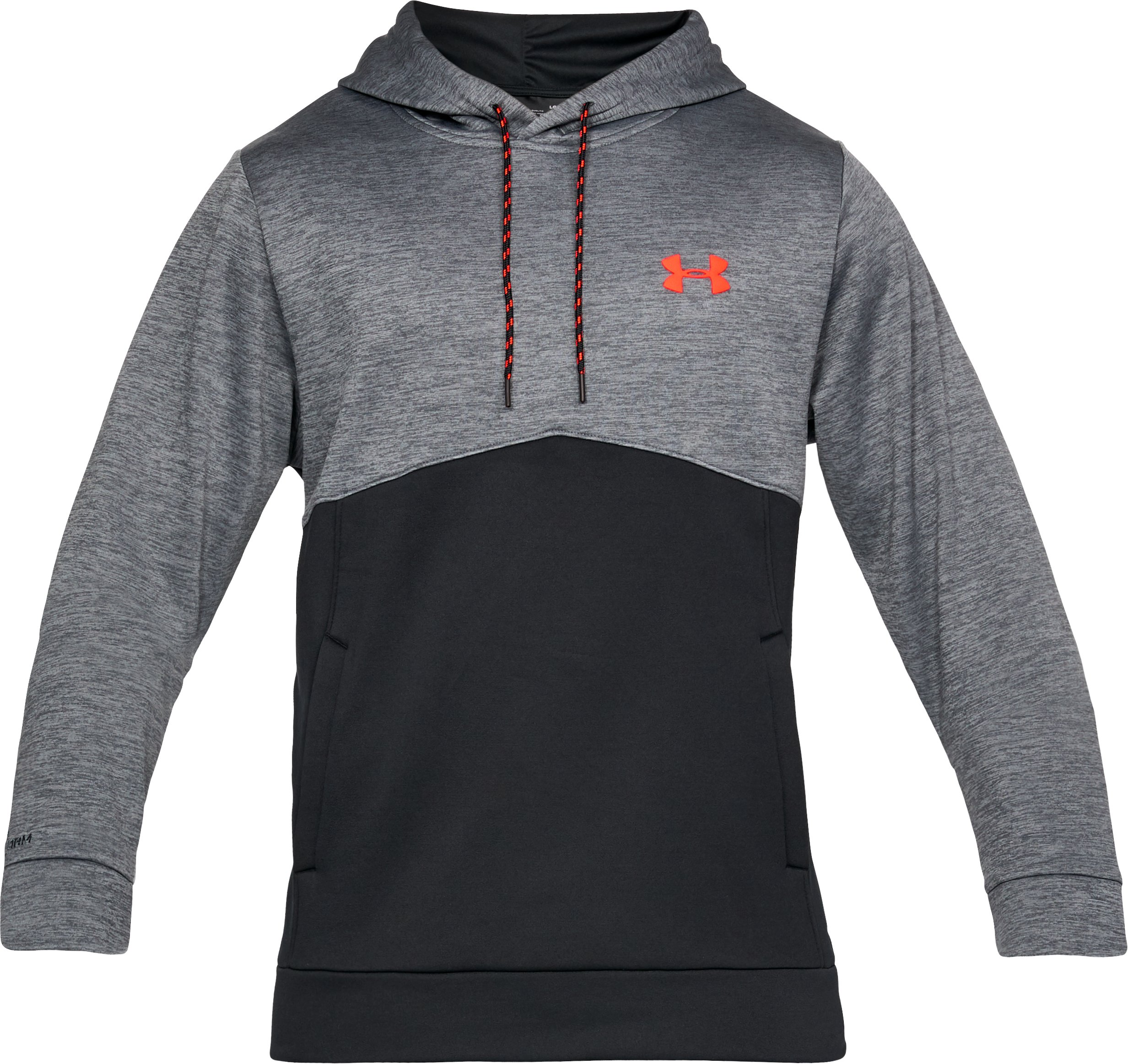 Men's UA Storm Armour® Fleece Twist Hoodie, RHINO GRAY, undefined