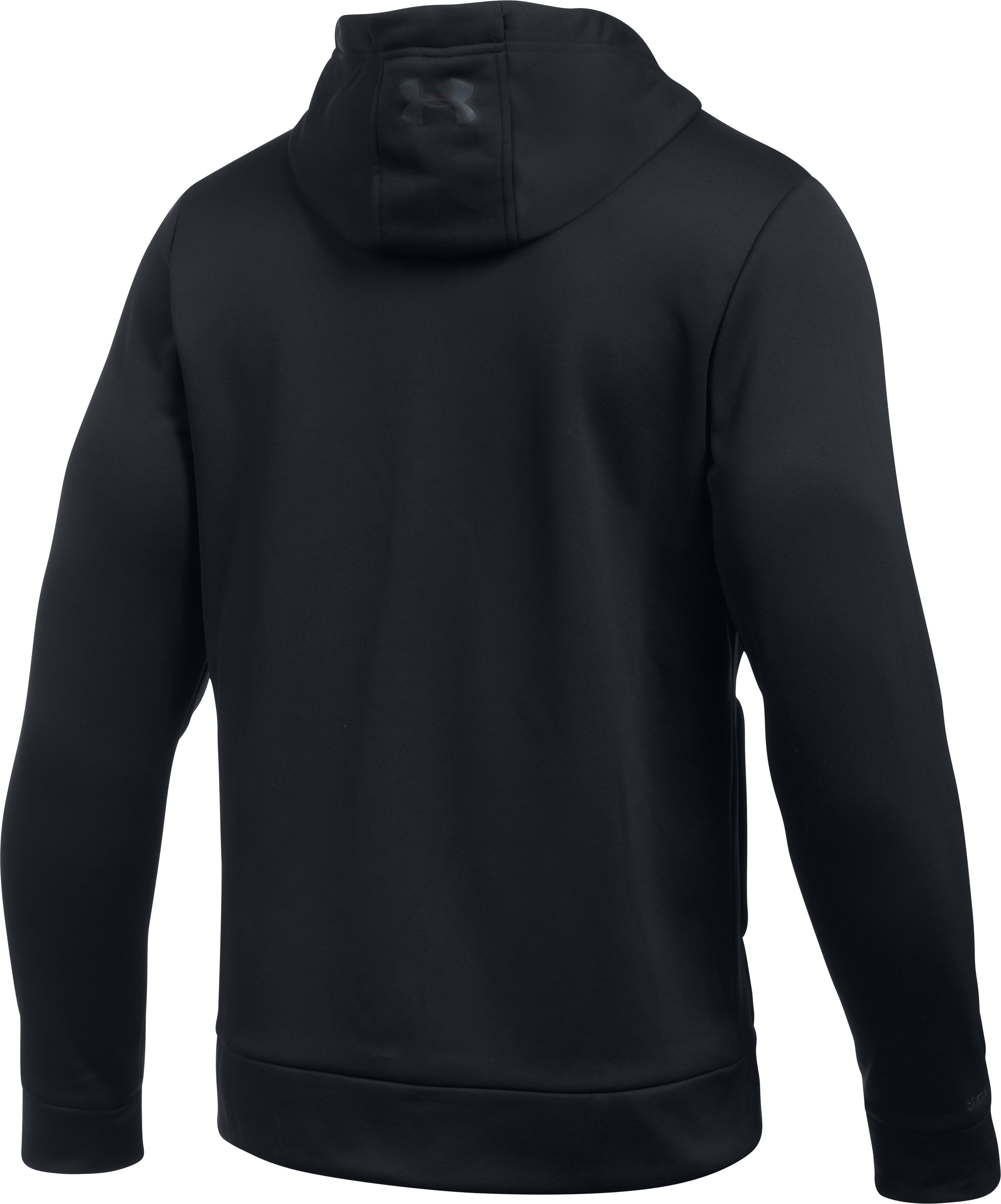 Men's UA Storm Armour Fleece® Full Zip Hoodie, Black , undefined