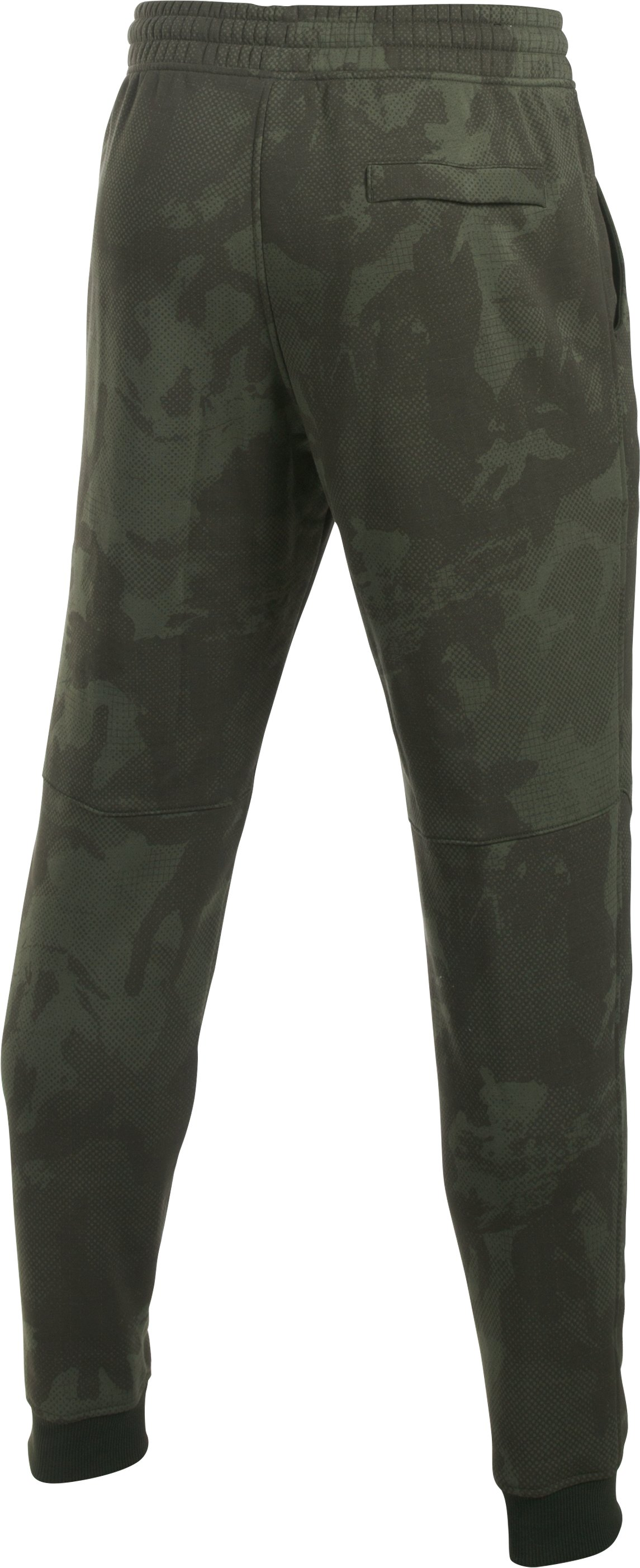 Men's UA Rival Fleece Patterned Joggers, Artillery Green,