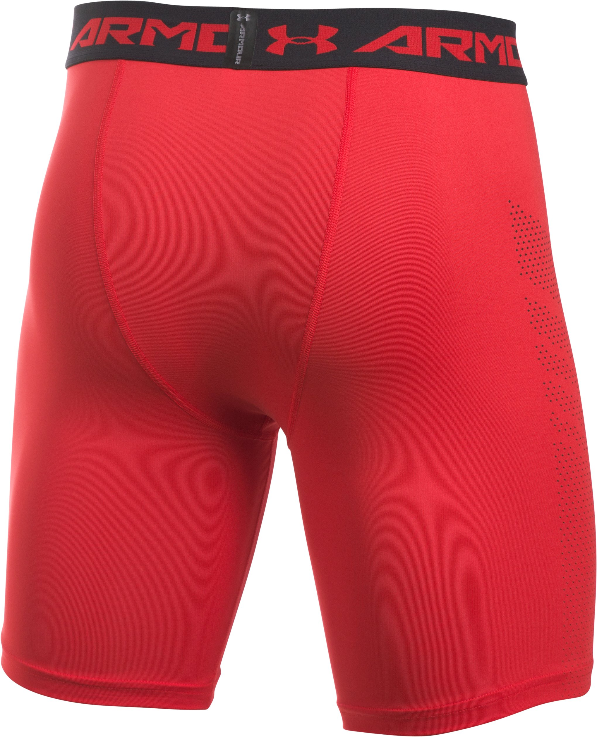 Men's UA HeatGear® Armour Printed Compression Shorts, Red
