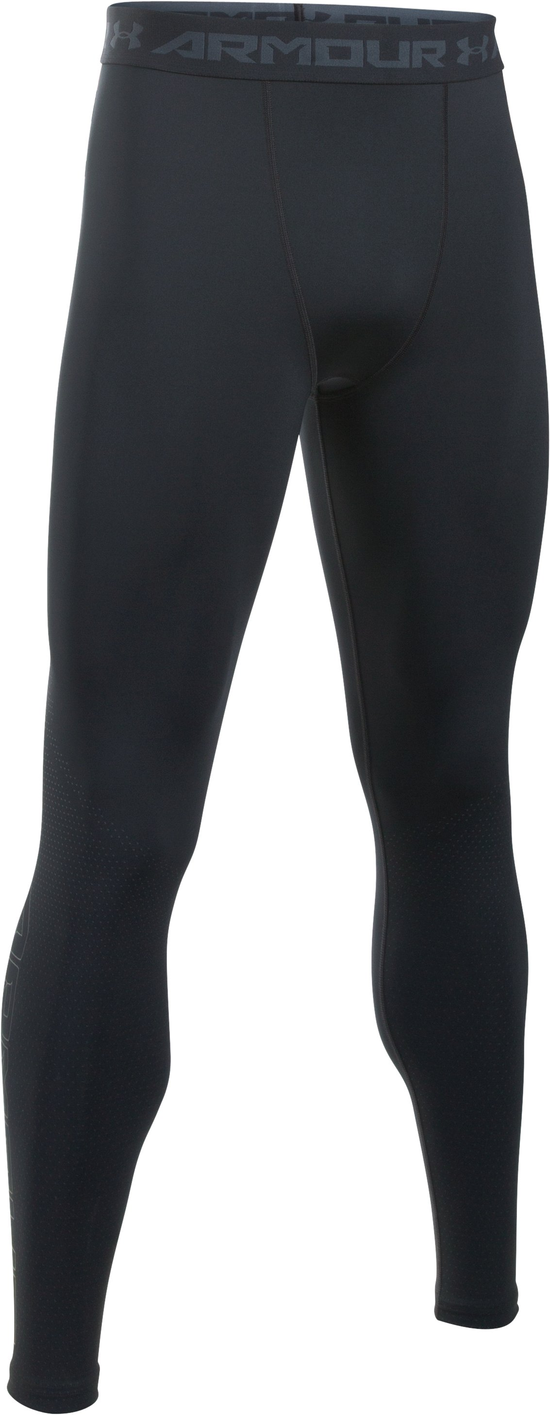 Men's UA HeatGear® Armour Printed Compression Leggings, Black