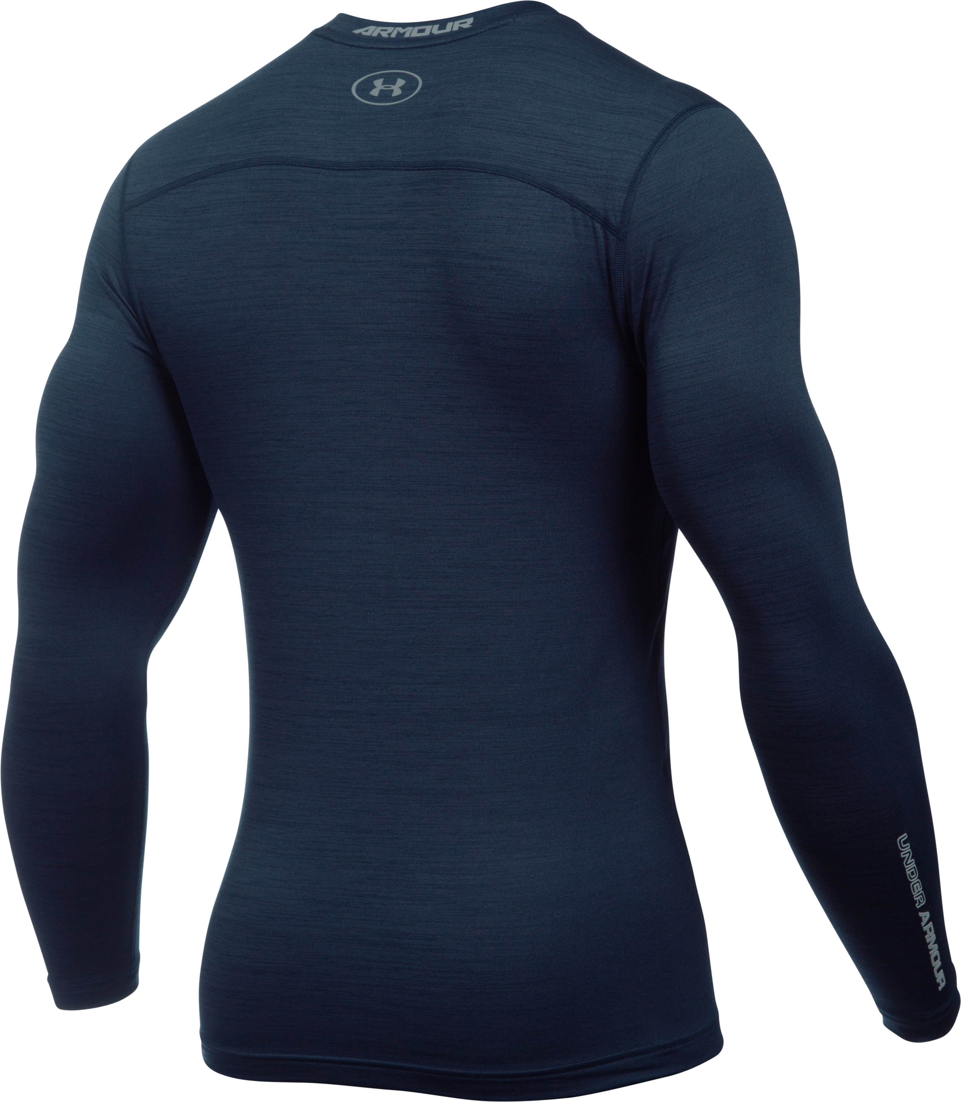 Men's UA ColdGear® Armour Twist Compression Crew, Midnight Navy, undefined