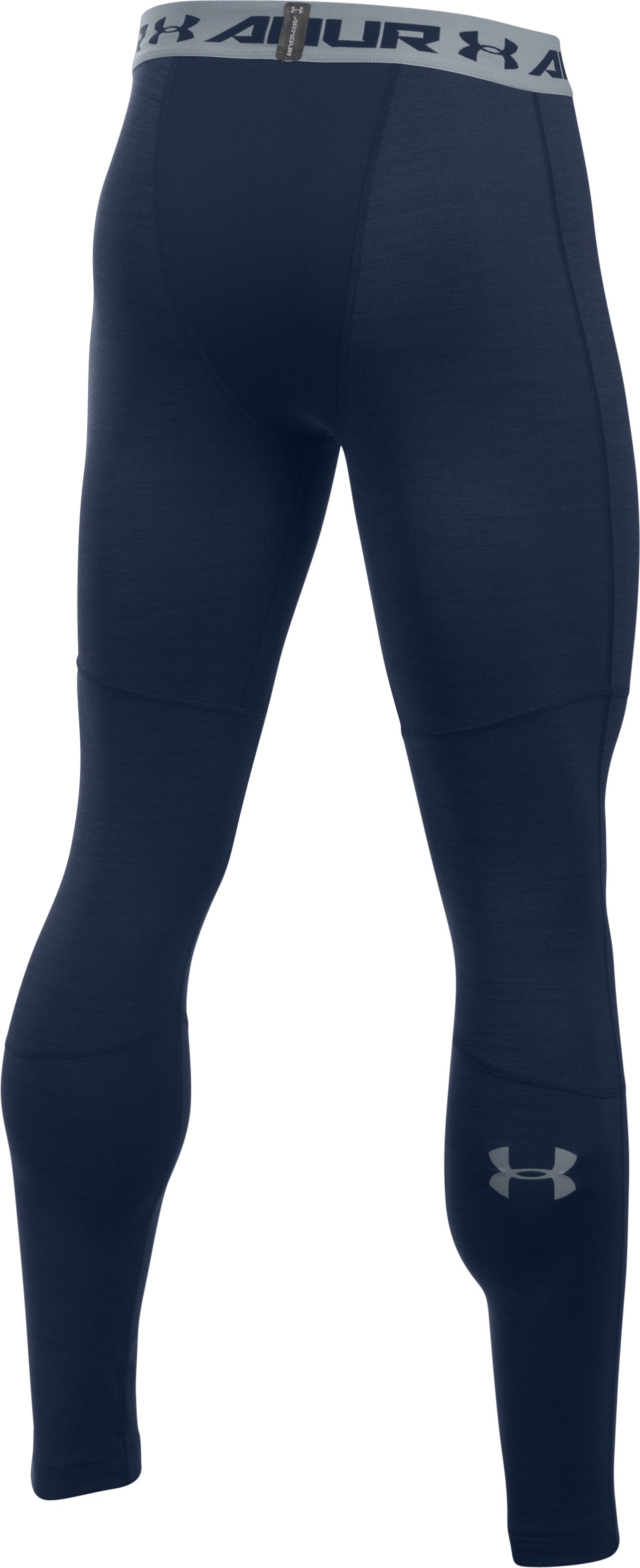 Men's UA ColdGear® Armour Twist Compression Leggings, Midnight Navy,
