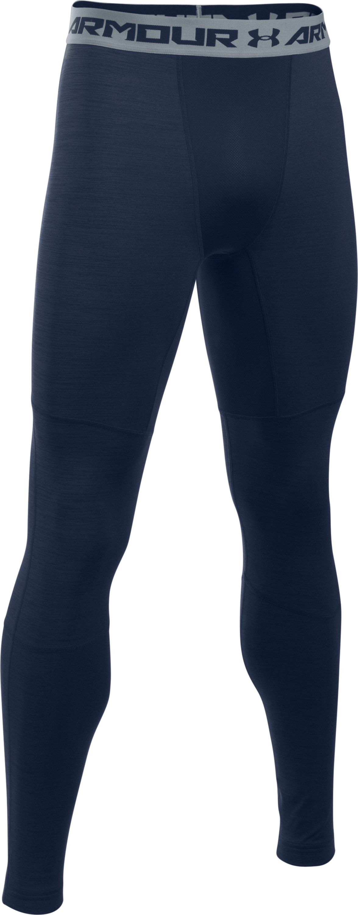 Men's UA ColdGear® Armour Twist Compression Leggings, Midnight Navy, undefined