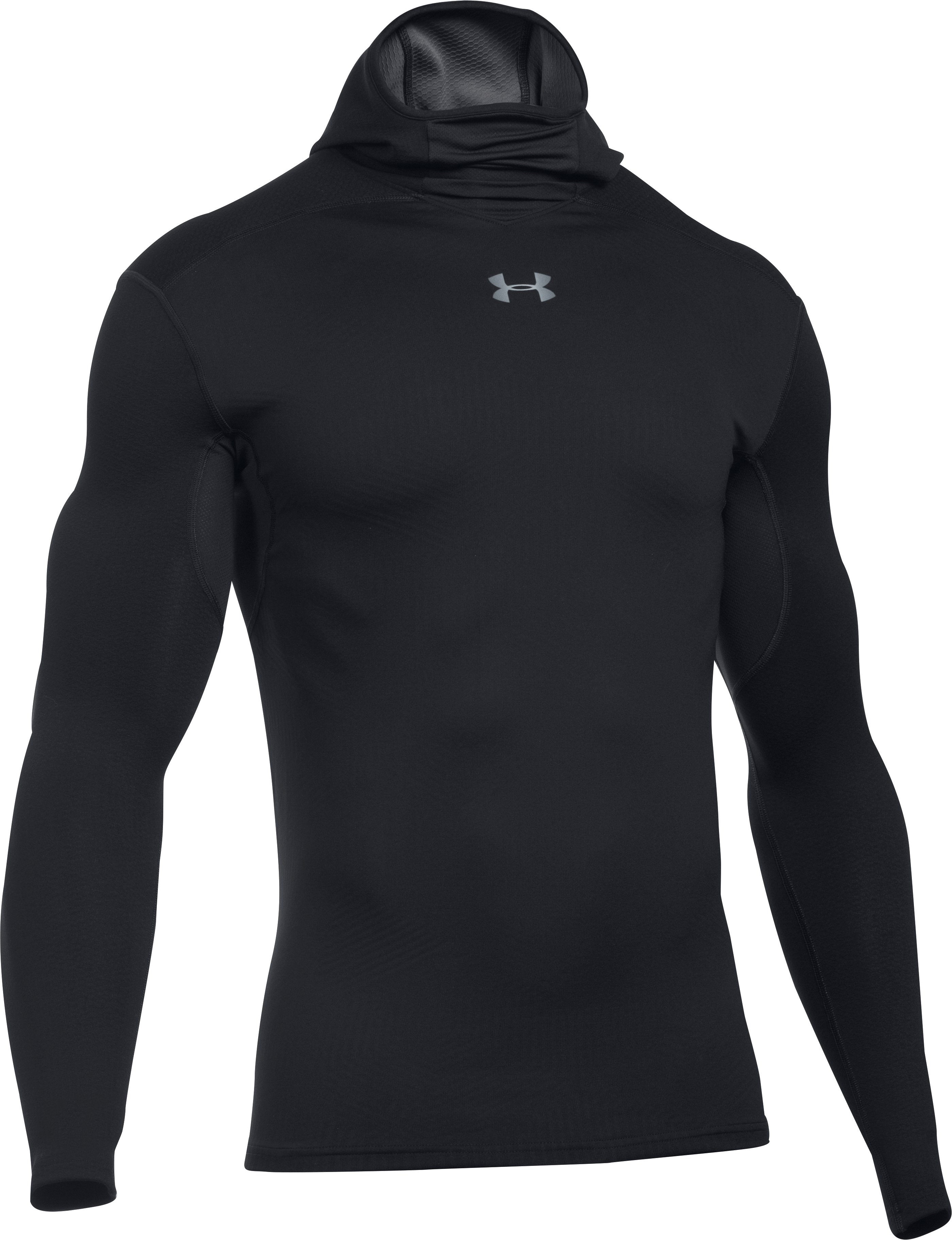 Men's UA ColdGear® Armour Elements Hoodie, Black