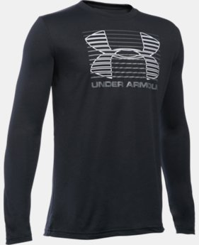 Boys' UA Breakthrough Logo Long Sleeve T-Shirt  1 Color $24.99