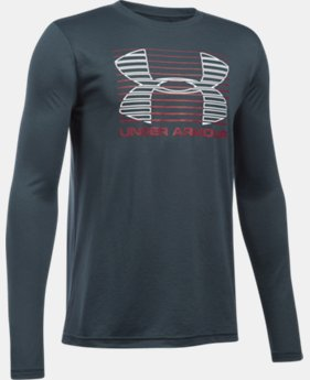 New Arrival  Boys' UA Breakthrough Logo Long Sleeve T-Shirt  1 Color $29.99