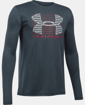 Boys' UA Breakthrough Logo Long Sleeve T-Shirt  1 Color $22.49