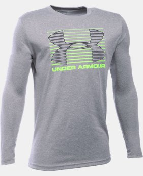 New to Outlet Boys' UA Breakthrough Logo Long Sleeve T-Shirt  2 Colors $17.99