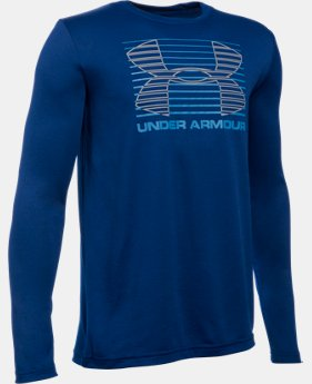 Best Seller Boys' UA Breakthrough Logo Long Sleeve T-Shirt LIMITED TIME: FREE SHIPPING 2 Colors $24.99