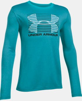 New Arrival  Boys' UA Breakthrough Logo Long Sleeve T-Shirt   $29.99