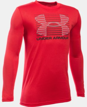 Best Seller Boys' UA Breakthrough Logo Long Sleeve T-Shirt  2 Colors $24.99