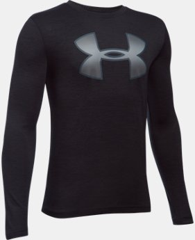 Best Seller Boys' UA Novelty Big Logo Long Sleeve LIMITED TIME: FREE SHIPPING 1 Color $29.99