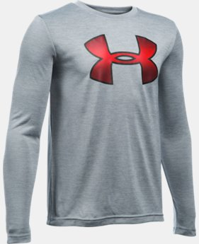 Boys' UA Novelty Big Logo Long Sleeve  1 Color $26.24