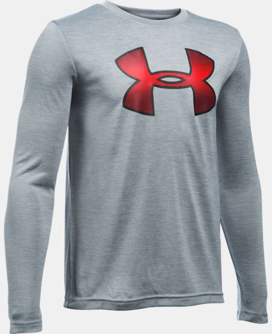 Boys' UA Novelty Big Logo Long Sleeve   $26.24