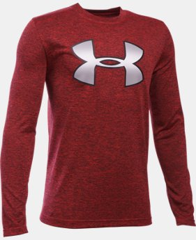 Best Seller Boys' UA Novelty Big Logo Long Sleeve LIMITED TIME: FREE SHIPPING 4 Colors $29.99