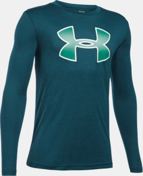 New Arrival  Boys' UA Novelty Big Logo Long Sleeve  1 Color $34.99