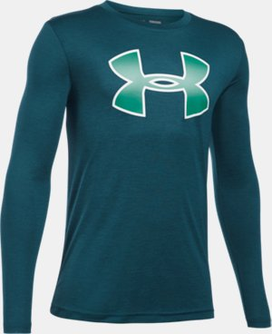 New Arrival  Boys' UA Novelty Big Logo Long Sleeve  2 Colors $34.99