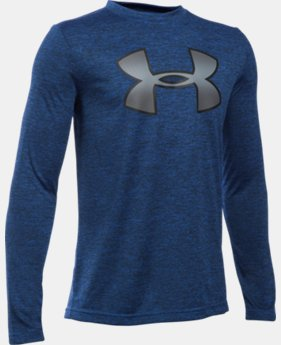 Best Seller Boys' UA Novelty Big Logo Long Sleeve LIMITED TIME: FREE SHIPPING 2 Colors $29.99