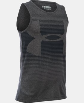 Best Seller Boys' UA Novelty Big Logo Tank LIMITED TIME: FREE SHIPPING 3 Colors $24.99