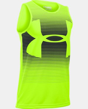 Boys' UA Novelty Big Logo Tank LIMITED TIME: FREE U.S. SHIPPING 1 Color $18.99