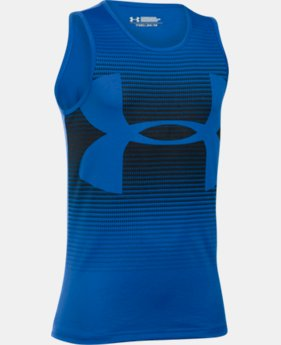 Best Seller Boys' UA Novelty Big Logo Tank LIMITED TIME: FREE SHIPPING 1 Color $24.99