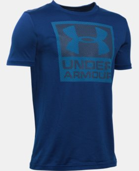 Boys' UA Striped Logo T-Shirt LIMITED TIME: FREE SHIPPING 1 Color $22.99