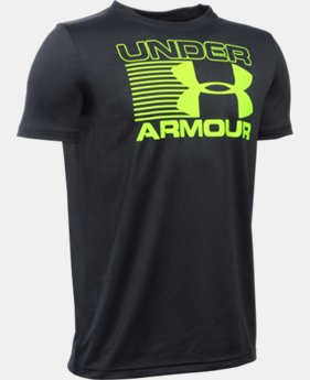 Best Seller Boys' UA Streak Logo T-Shirt LIMITED TIME: FREE SHIPPING 2 Colors $19.99