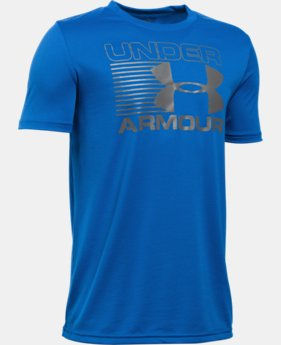 Best Seller Boys' UA Streak Logo T-Shirt LIMITED TIME: FREE SHIPPING 1 Color $19.99