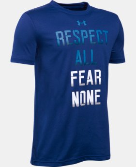 Best Seller Boys' UA Fear None T-Shirt LIMITED TIME: FREE SHIPPING 2 Colors $19.99