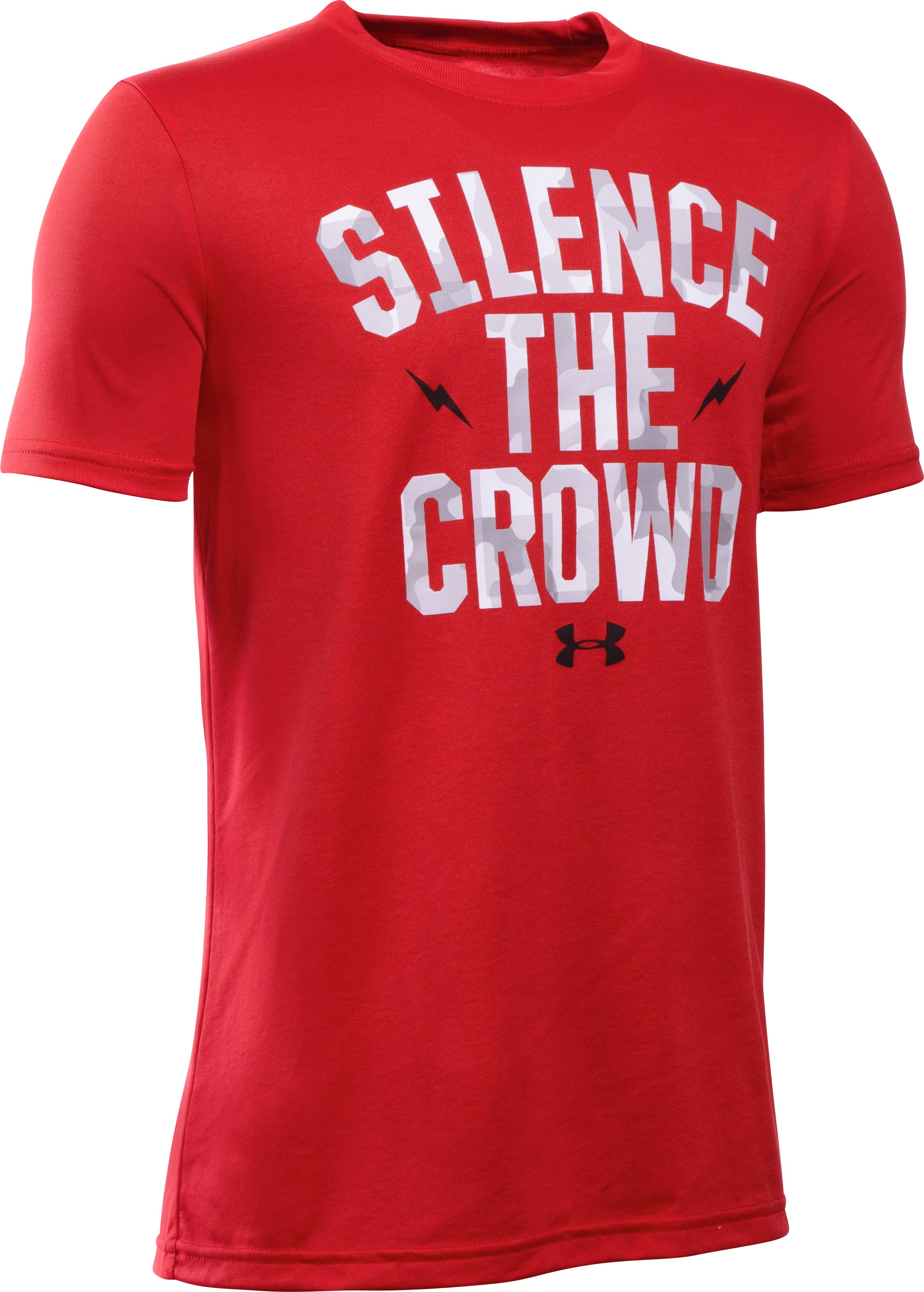 Boys' UA Silence The Crowd T-Shirt, Red