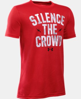New Arrival  Boys' UA Silence The Crowd T-Shirt   $25.99