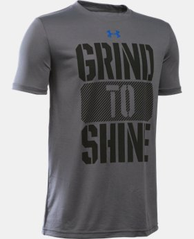 Boys' UA Grind To Shine T-Shirt LIMITED TIME: FREE SHIPPING 1 Color $19.99