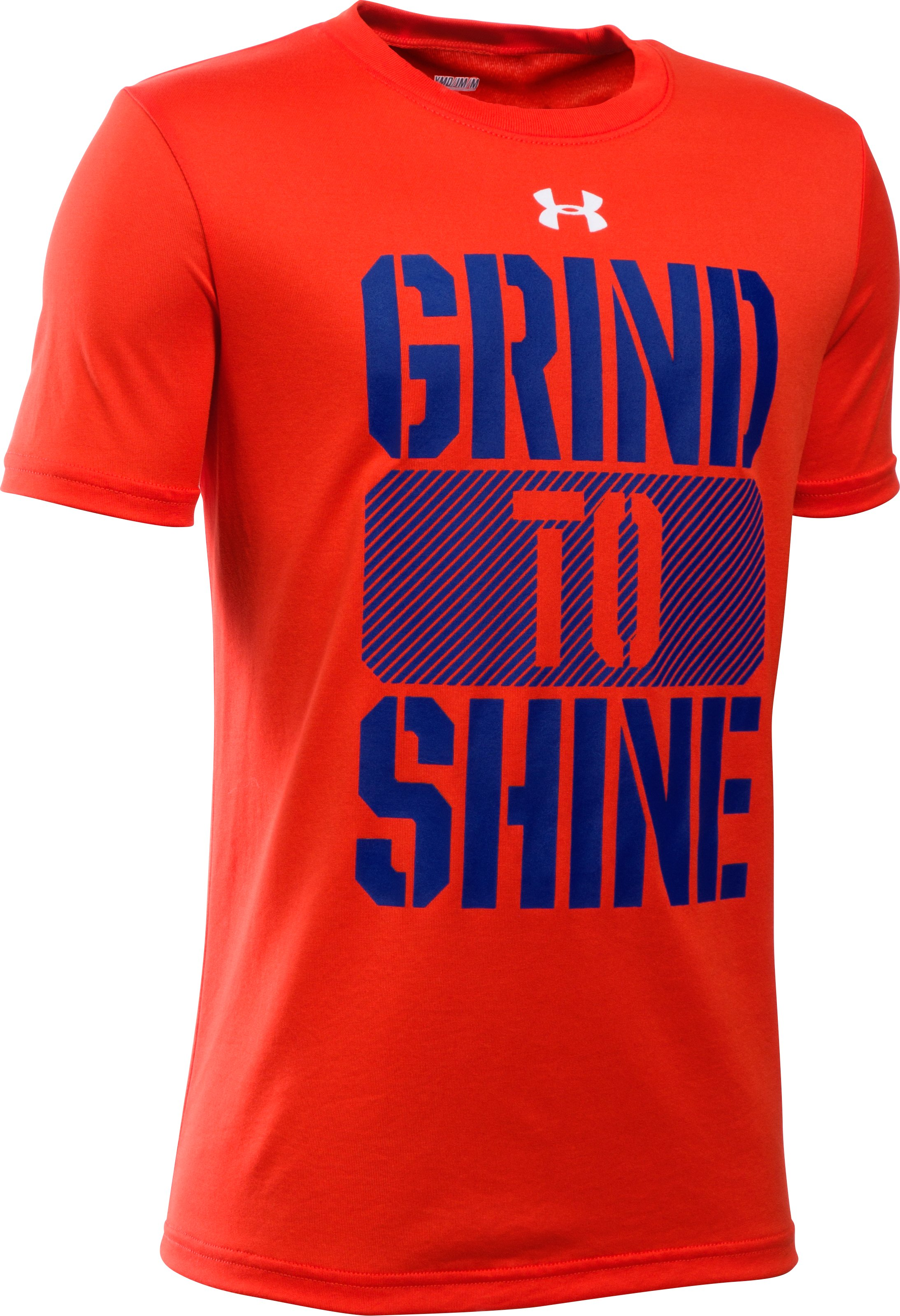 Boys' UA Grind To Shine T-Shirt, Volcano, zoomed image