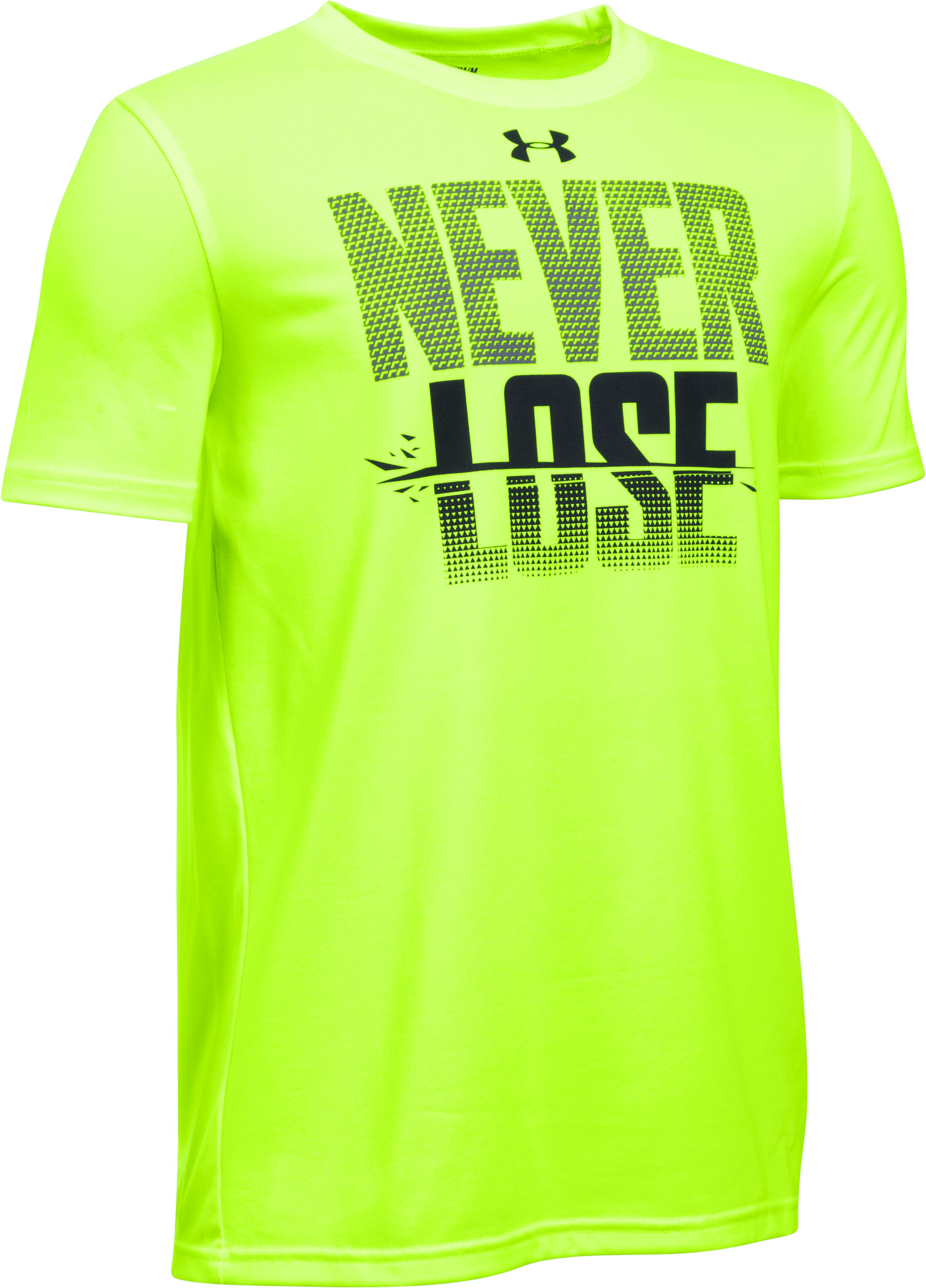 Boys' UA Never Lose T-Shirt, FUEL GREEN,