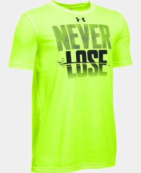 Best Seller Boys' UA Never Lose T-Shirt LIMITED TIME: FREE SHIPPING 2 Colors $19.99