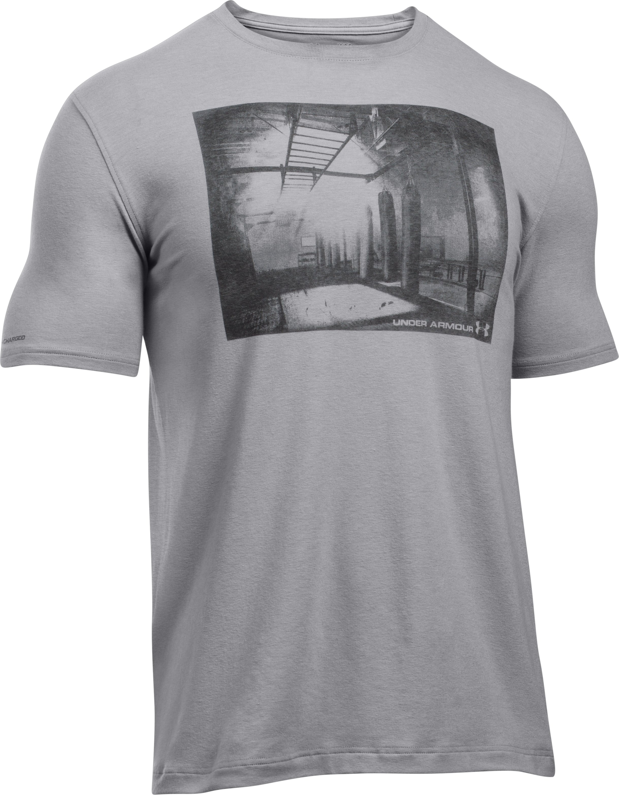 Men's UA Photoreal Gym T-Shirt, True Gray Heather