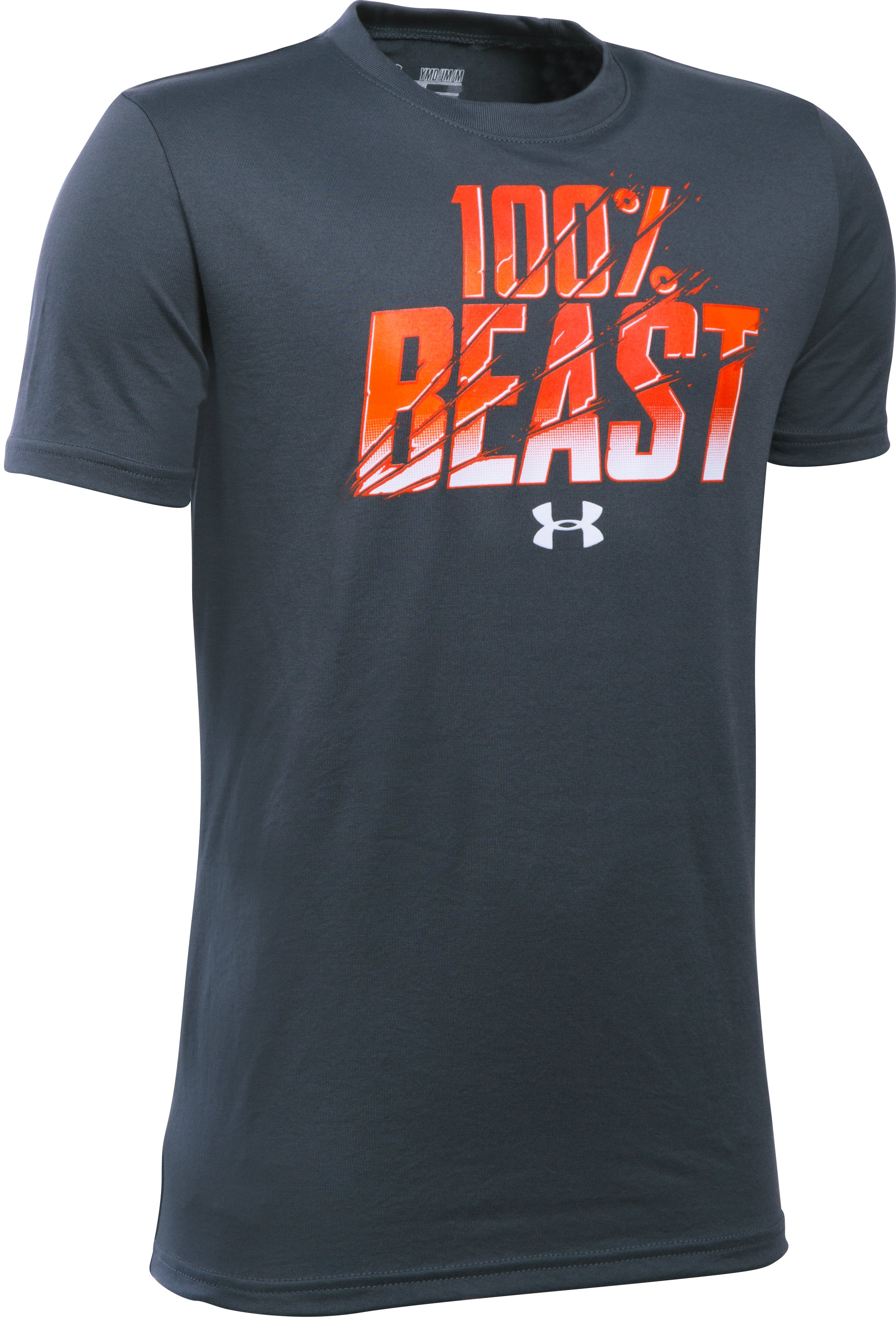 Boys' UA Unleash The Beast T-Shirt, STEALTH GRAY, undefined