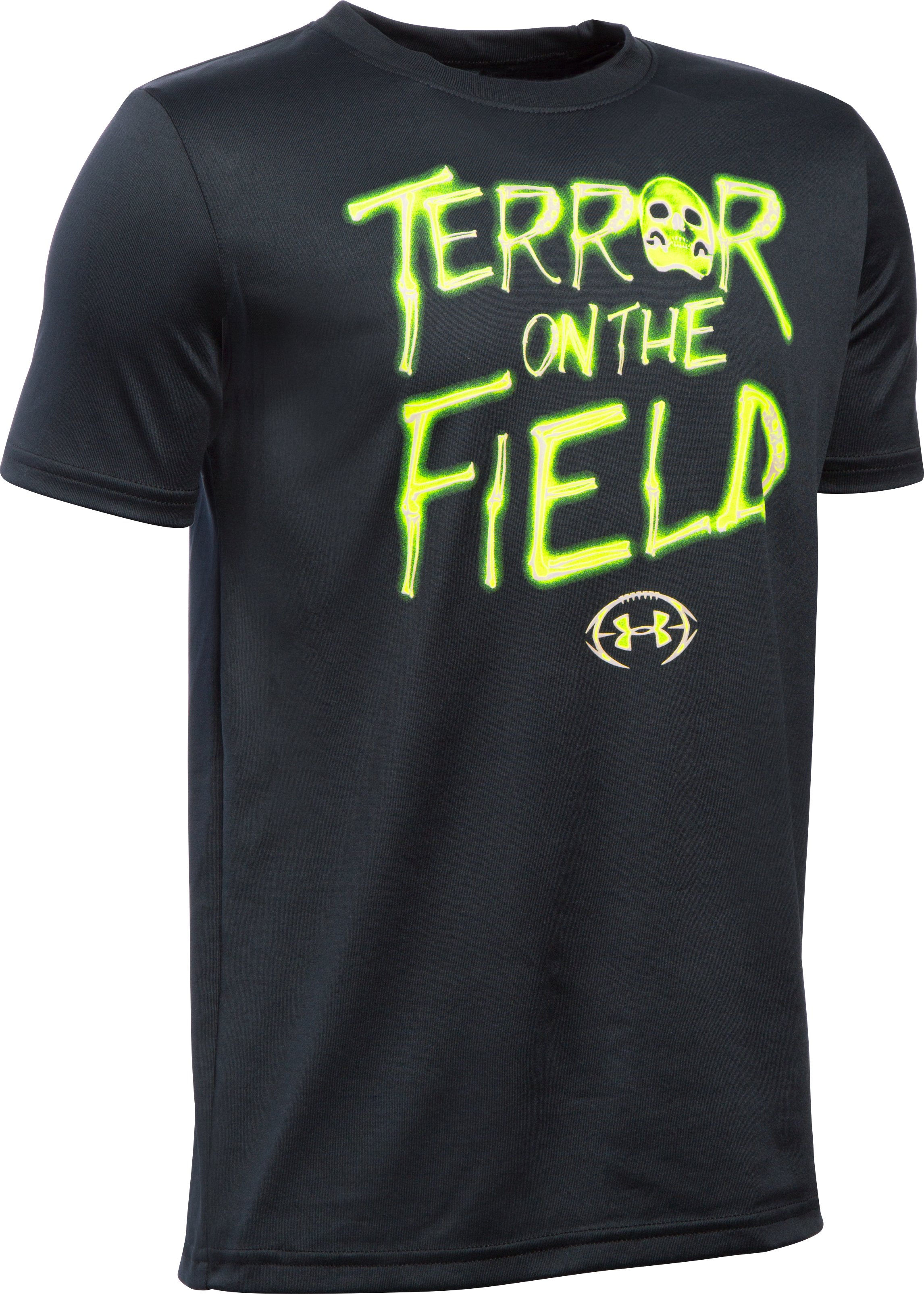 Boys' UA Terror On The Field T-Shirt, Black ,