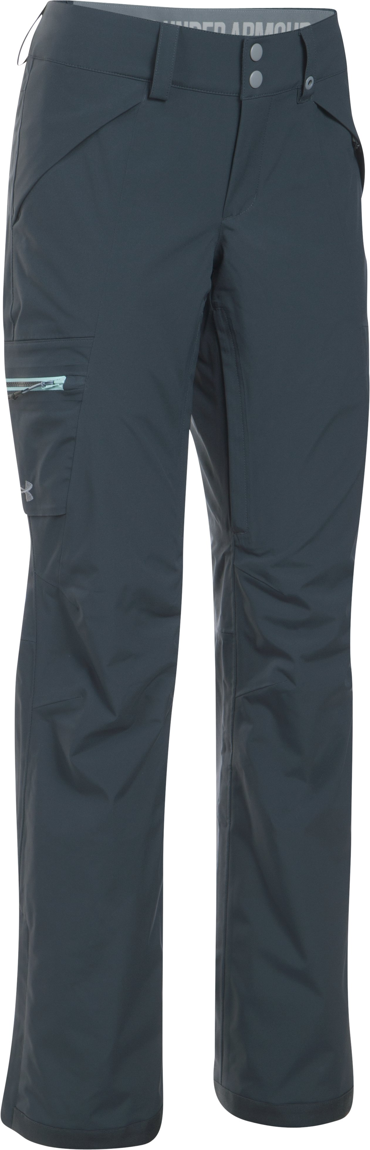 Women's UA ColdGear® Infrared Glades Pants, STEALTH GRAY